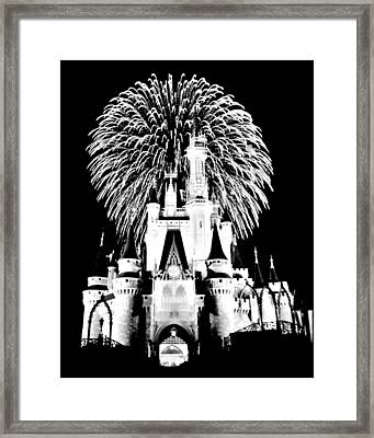 Castle Show Black And White Framed Print by Benjamin Yeager