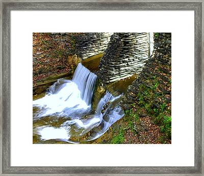 Castle Wall Framed Print by J Allen
