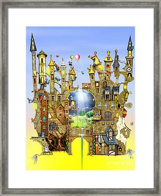 Castles In The Air  Framed Print by Colin Thompson
