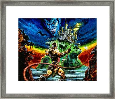 Castlevania Framed Print by Joe Misrasi