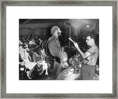 Castro Interviews Insurgents Framed Print by Underwood Archives