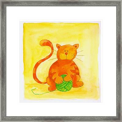 Cat 2 Framed Print by Esteban Studio