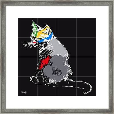 Cat Color Framed Print by Roby Marelly