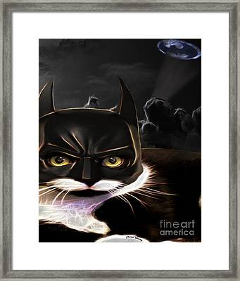Cat Crusader Framed Print by Cheryl Young