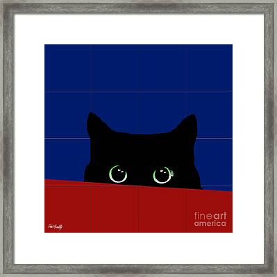 Cat Eyes Framed Print by Roby Marelly