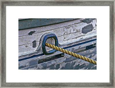 Cat Hole And Hawser Framed Print by Marty Saccone