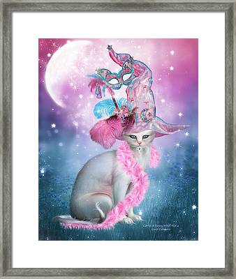 Cat In Fancy Witch Hat 4 Framed Print by Carol Cavalaris