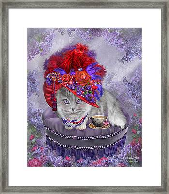 Cat In The Red Hat Framed Print by Carol Cavalaris