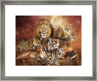 Cat Power Framed Print by Carol Cavalaris