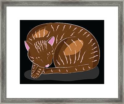 Cat Framed Print by Sara Ponte