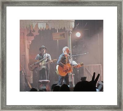 Cat Stevens Chicago Concert 2014 Peacetrain Framed Print by Todd Sherlock