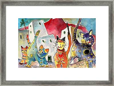 Cat Town In Lanzarote Framed Print by Miki De Goodaboom