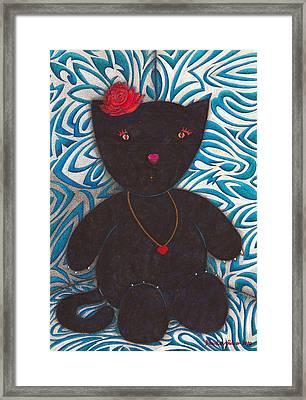 Cat Toy Framed Print by Daniel Levy policar