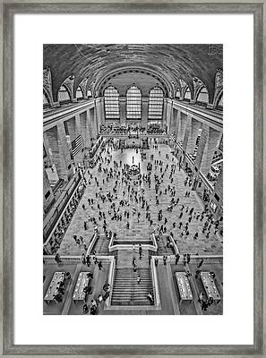 Cat Walk At Grand Central Terminal Bw Framed Print by Susan Candelario
