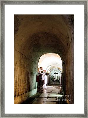 Catacombs In Palermo Framed Print by David Smith