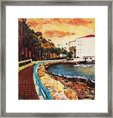 Catalina Island Framed Print by Carrie Jackson
