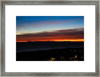 Catalina Island Sunset Framed Print by Penny Lisowski