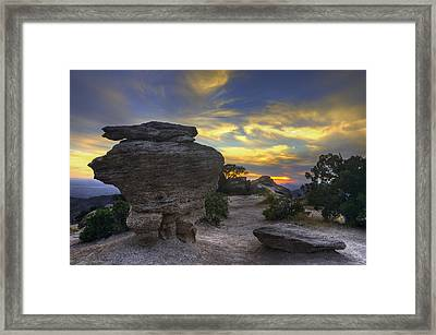 Catalina Mountains Sunset Near Tucson Arizona Framed Print by Dave Dilli
