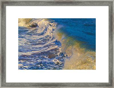 Catch A Wave Framed Print by John Haldane
