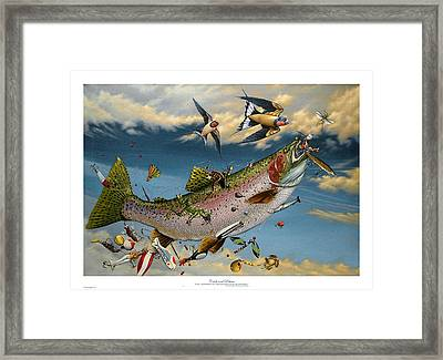 Catch And Release Framed Print by Philip Slagter