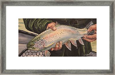 Catch And Release Framed Print by Scott Thompson