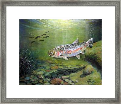 Catch It Framed Print by Donna Tucker
