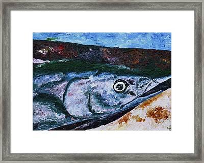Catch Of The Day 1 Framed Print by Carol Mallillin-Tsiatsios