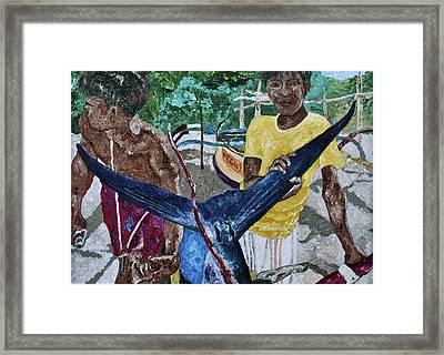 Catch Of The Day 2 Framed Print by Carol Mallillin-Tsiatsios