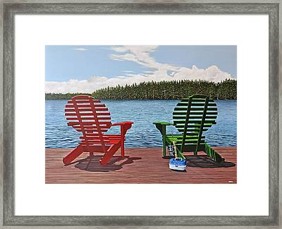 Catch Of The Day Framed Print by Kenneth M  Kirsch