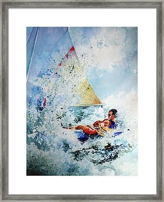 Catch The Wind Framed Print by Hanne Lore Koehler