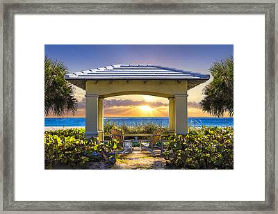 Catching A Few Rays Framed Print by Debra and Dave Vanderlaan