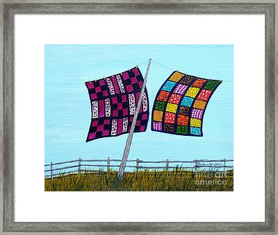 Catching The Breeze Framed Print by Barbara Griffin