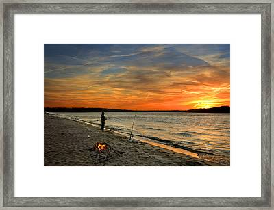 Catching The Sunset Framed Print by Steven  Michael