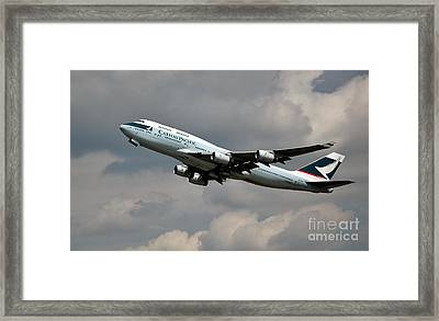 Cathay Pacific B-747-400 Framed Print by Rene Triay Photography