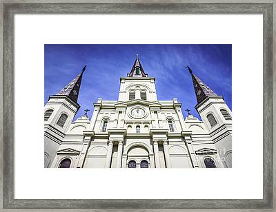 Cathedral-basilica Of St. Louis King Of France Framed Print by Paul Velgos