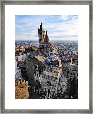 Cathedral In Bergamo Framed Print by Karol Kozlowski