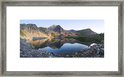 Cathedral Lake Reflection Framed Print by Aaron Spong