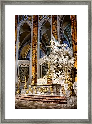 Cathedral Of Chartres Altar Framed Print by Olivier Le Queinec