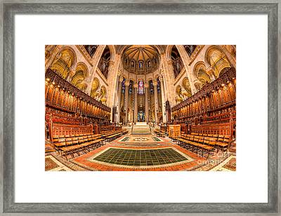 Cathedral Of Saint John The Divine I Framed Print by Clarence Holmes