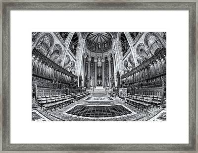 Cathedral Of Saint John The Divine II Framed Print by Clarence Holmes