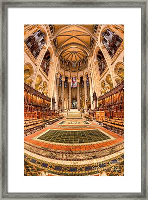 Cathedral Of Saint John The Divine IIi Framed Print by Clarence Holmes