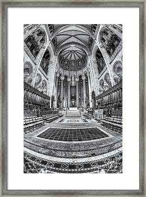 Cathedral Of Saint John The Divine Iv Framed Print by Clarence Holmes