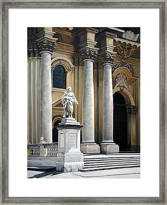Cathedral Of Syracuse Framed Print by Kathleen English-Barrett