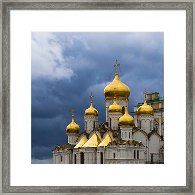 Cathedral Of The Annunciation Of Moscow Kremlin - Square Framed Print by Alexander Senin