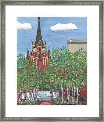 Cathedral Of The Assumption Framed Print by Teresa French McCarthy