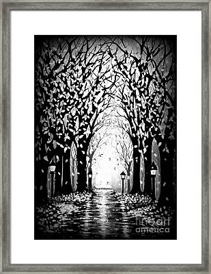 Cathedral Park Framed Print by Janine Riley