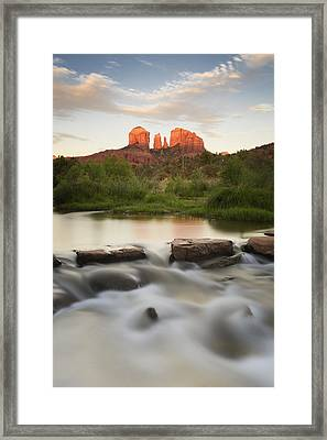 Cathedral Rock At Red Rock Framed Print by Peter Carroll