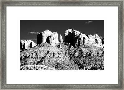 Cathedral Rock Glow Framed Print by John Rizzuto