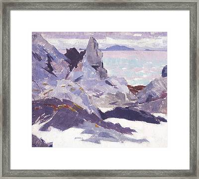 Cathedral Rock  Iona Framed Print by Francis Campbell Boileau Cadell