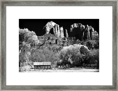 Cathedral Rock Framed Print by John Rizzuto